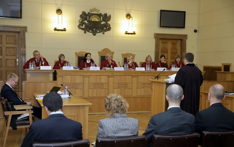 A hearing at the Latvian Supreme Court.